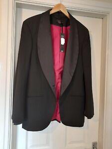 Ladies Black Tuxedo Jacket Size 16 Gok For TU