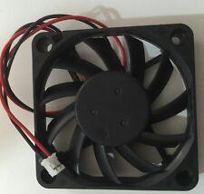 2 of 6CM X 6CM  X 1CM  R126010BU 6010 Ball Bearing 12V 0.25A Fan CPU Cooler 2PIN
