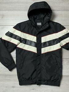 Mens ZARA MAN Hooded Water Resistant Padded Jacket Size Small S | 38 | Black