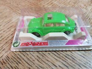 Majorette Series 200 Model 203 Coccinelle VW Beetle in Blister Pack green