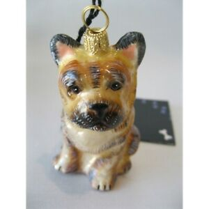 French Bulldog Dog Glass Christmas Ornament  Made in Poland