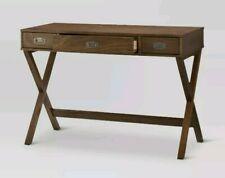 Campaign Wood Writing Desk with Drawers - Threshold