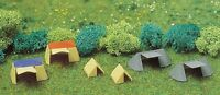Busch 8120  6 x Assorted Plastic Tents -  N Gauge Scenic Items - 1st Class Post