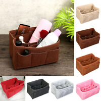 4 Sizes Felt Insert Bag Multi Pockets Handbag Purse Organizer Cosmetic Makeup