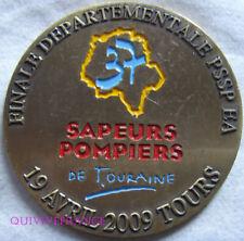 MED10257 - MEDAILLE SAPEURS POMPIERS DE TOURAINE 2009