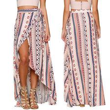 Stylish Women Summer Bohemian Style Chiffon Bandage Beach Long Skirts AU