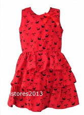 Vêtements rouges en polyester pour fille de 4 à 5 ans