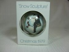Schmid Christmas Ornament 1979 Snow Sculpture First Limited Edition