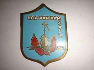 Vietnam Guerre Arvn Marine Vaisseau Graisseur Hoa Van Ham 471 Beercan Insignes