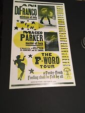 Ani Difranco and Maceo Parker Hatch Show Block Print Concert poster 1999  Rare