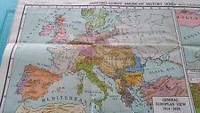 Vintage Johnston & Nystrom Map Of Nat'l &Gov't