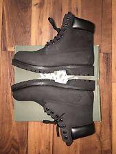 Timberland Men's Boot Size 10 Classic 6 Inch Premium Black Nubuck