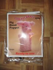 "Soft Toy pig hand puppet 9.5""/24cm 3+years Cuddlecraft READY TO SEW Kit Sewing"