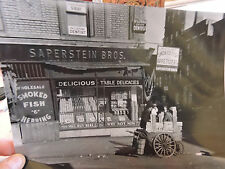 1936 Lower East Side Ludlow & Hester Saperstein Lox Herring New York City Nyc