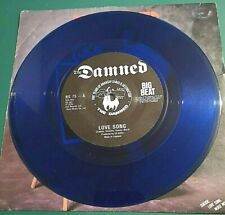 """THE DAMNED - LOVE SONG - 7"""" BLUE VINYL - BIG BEAT label with PICTURE COVER"""