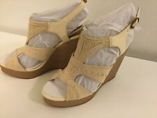 Lucky Brand New Women's Size 8.5M Natural Combo Rosiee Platform Wedge