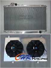 Aluminum radiator + shroud + fan for Toyota Supra JZA80 Turbo 1993-1998 Manual