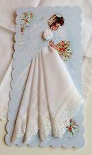 Precious New Bridal Handkerchief Card ~ LuRay Wedding Hankie Card