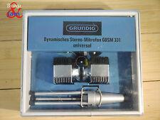 Vintage Stéréo Microphone dynamique Grundig GDSM 331. Fabriqué en Allemagne.