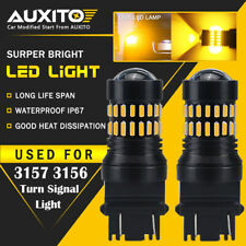 AUXITO 2X 3157 3457A 4157 Super Amber Turn Signal Blinker LED Light Bulbs 48H EA