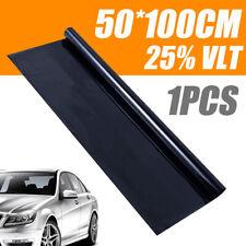 0.5 x1 M Black Glass Window Tint Shade Film VLT 25% Auto Car House Roll