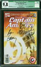 Captain America #1 CGC 9.8 Sunburst Variant S/N Mark Waid & Ron Garney (Q) 1998