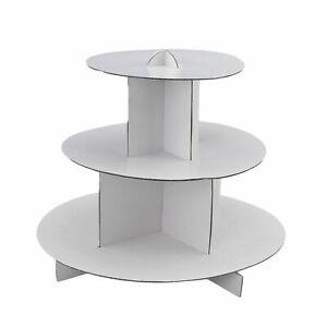 Round White 3-Tier Cupcake Stand Cake Holder Dessert Pastry Display Tower BULK
