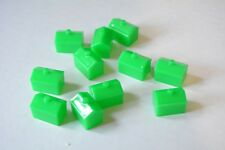 Monopoly board game replacement pieces - green hotels - qty 11