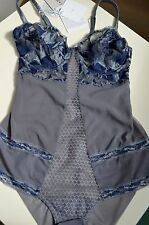 SALE! GORGEOUS La Perla Bodysuit Silk Oriental Suite Lace 75B Bustier Bra Italy