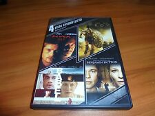 Seven/Troy/Babel/Curious Case Benjamin Button (DVD 4-Disc 2013) Brad Pitt Used