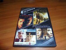 Seven/Troy/Babel/Curious Case Benjamin Button (DVD 4-Disc 2013) Brad Pitt Used