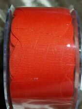 "GROSGRAIN RIBBON 1.5"" May Arts Wavy orange ribbon Fall Halloween  20 yrd Roll"
