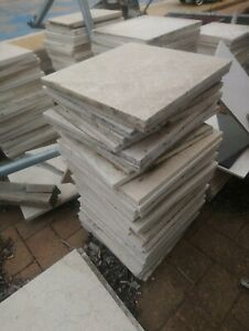 Italian Tiles Carrera White  marble Veins Natural stone 300X 300 X 12 mm thick