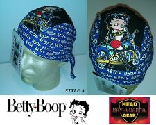 OFFICIALLY LICENSED BETTY BOOP Skull Cap FITTED Bandana w/Tie Do DOO RAG BIKER A