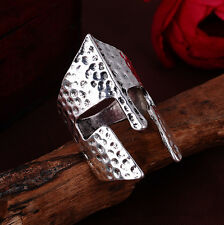 Jewelry Men's Knight mask stainless steel Fashion Punk design ring US size9 #13