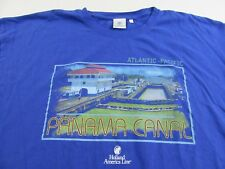 Holland America Line PANAMA CANAL Atlantic-Pacific Blue T Shirt Size XXL