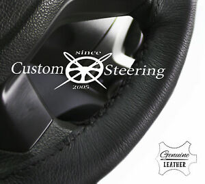 STEERING WHEEL COVER BLACK LEATHER FOR VOLVO VNR 400 16+ TOP QUALITY