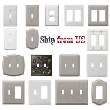 US Wall Switch Plate Decorative Outlet Cover Toggle Rocker Duplex Light Outlet