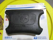 DODGE DRIVER STEERING WHEEL AIRBAG BLACK RAM IN MIDDLE, SRS BELOW CIRCLE P5GD13J