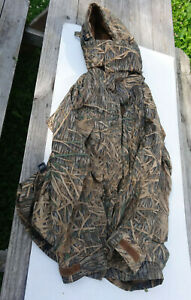 COLUMBIA SHADOW GRASS CAMO DUCK HUNTING PARKA JACKET MENS Tall SIZE XL Hooded
