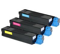 3pk High Yield Color C5100 Toner Set For Okidata C5200 C5150 C5400 C5300 C5300DN
