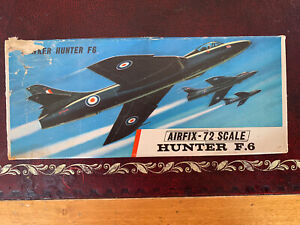 Airfix Hawker Hunter F 6 in red stripe box Complete Condition