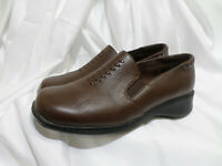 Cobbie Cuddlers Brown Leather Slip on  Loafers Shoes Women's Size 6W
