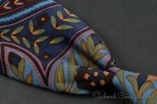 "TURNBULL & ASSER Colorful Floral Wild 100% Silk Mens Luxury Tie - 3.625"""