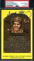 Frank Robinson PSA DNA Coa Autograph Hand Signed Gold HOF Plaque Postcard