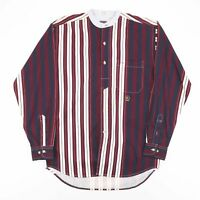 Vintage ZIZA  Red 00s Long Sleeve Striped Shirt Mens XL