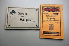 Salzburg Reiseführer Mini Bibliothek 1914 + Leporello 18 Abb Kasseroller ca 1890