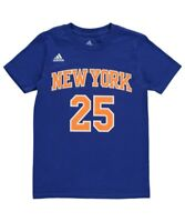 Derrick Rose T-Shirt New York Knicks #25 Youth NBA Name & Number  - Blue