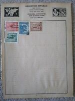 Argentina Vintage Stamp Collection - Extracted from Stanley Gibbons Album 29th