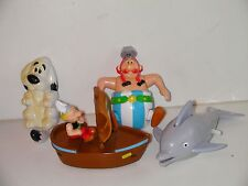 ASTERIX  1994 4 figure push back and wind up toy lot ( FREE GIFT/SHIP)